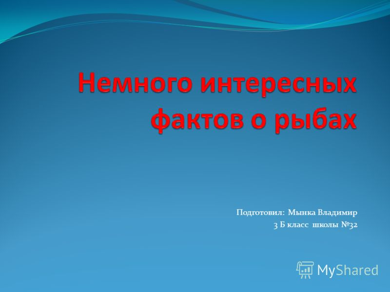 Подготовил: Мынка Владимир 3 Б класс школы 32