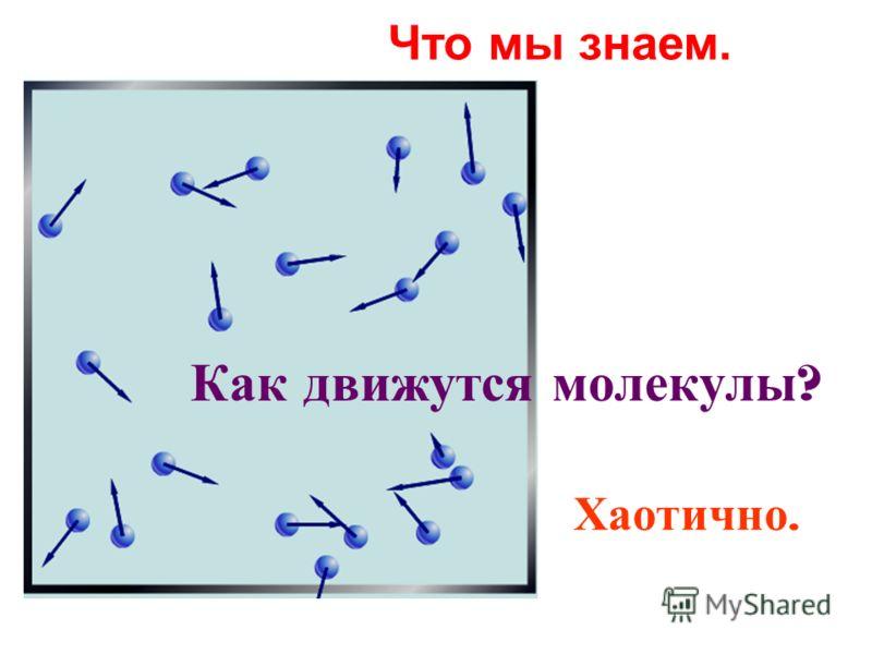 Как движутся молекулы ? Хаотично. Что мы знаем.