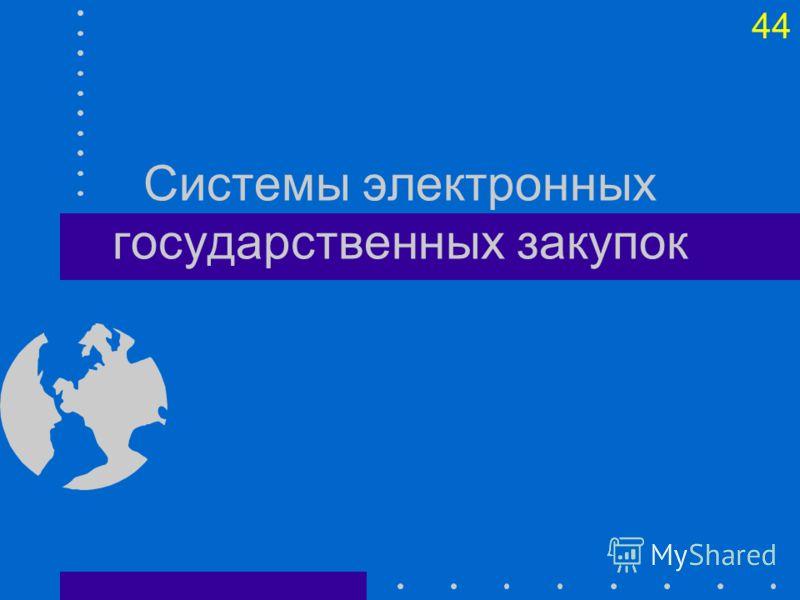44 Системы электронных государственных закупок