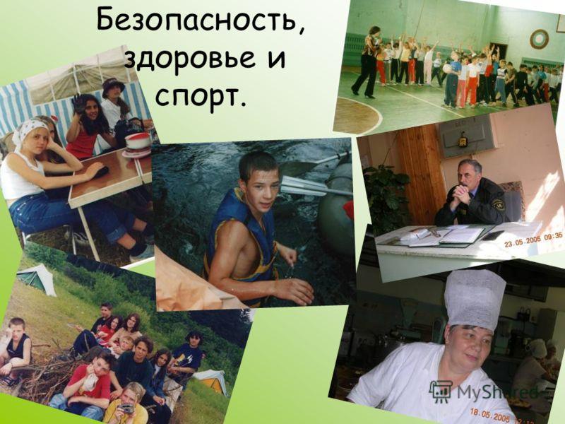 Безопасность, здоровье и спорт.
