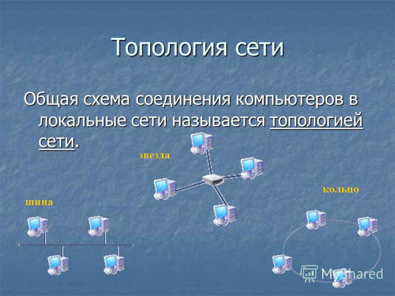 Топология сети Общая схема