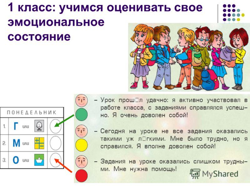 6 1 класс: учимся оценивать свое эмоциональное состояние