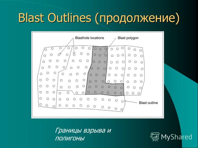 Blast Outlines (продолжение) Границы взрыва и полигоны