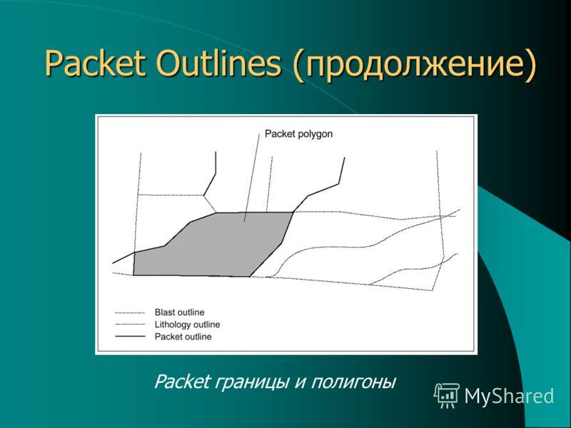 Packet Outlines (продолжение) Packet границы и полигоны