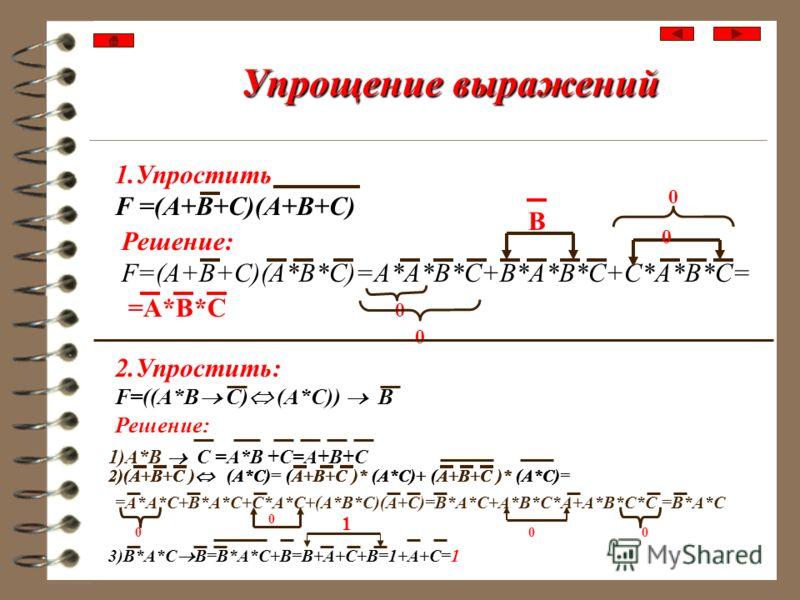CКНФ Правило записи CКНФ функции по таблице истинности: Для всех наборов переменных, на которых функция принимает нулевые значения,записать дизъюнкции, инвертируя те переменные,которым соответствуют единичные значения. Затем дизъюнкции соединить знак