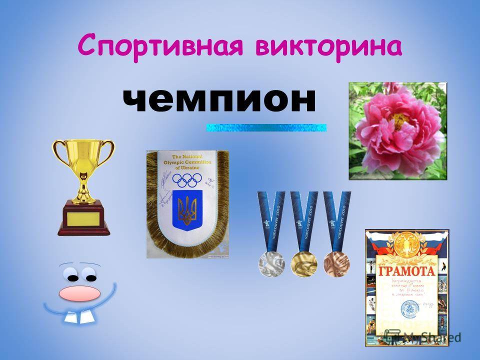 Спортивная викторина чемпион