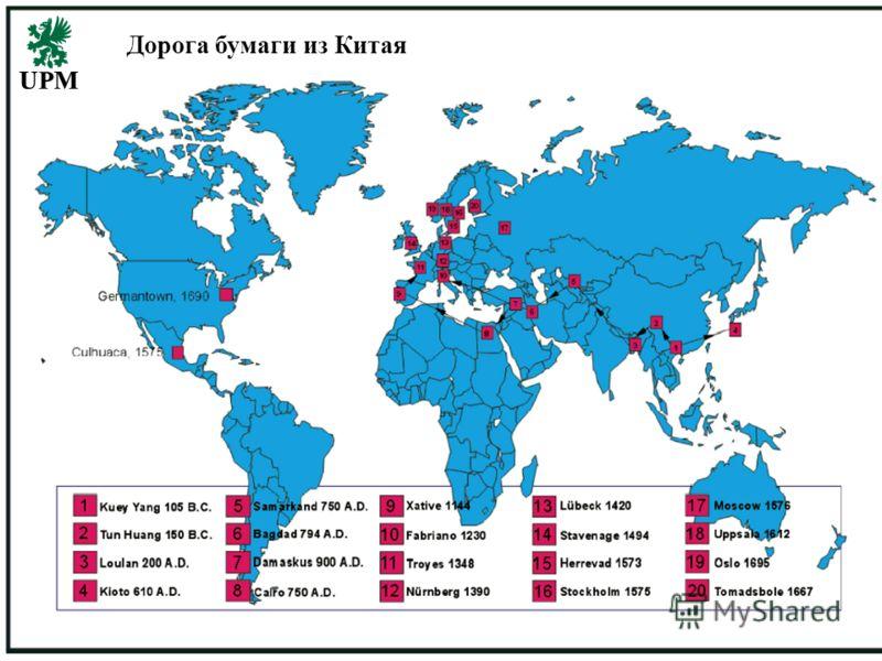 November 7, 2012 UPM-Kymmene 1 Дорога бумаги из Китая