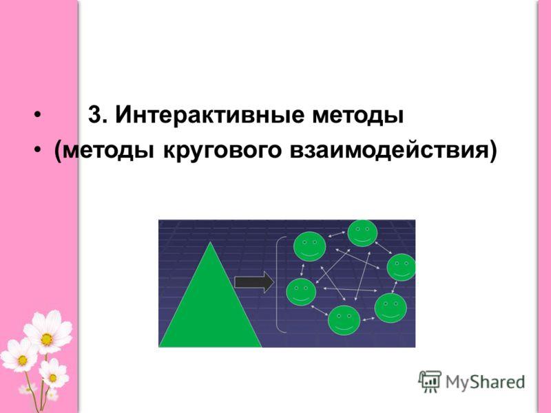 3. Интерактивные методы (методы кругового взаимодействия)