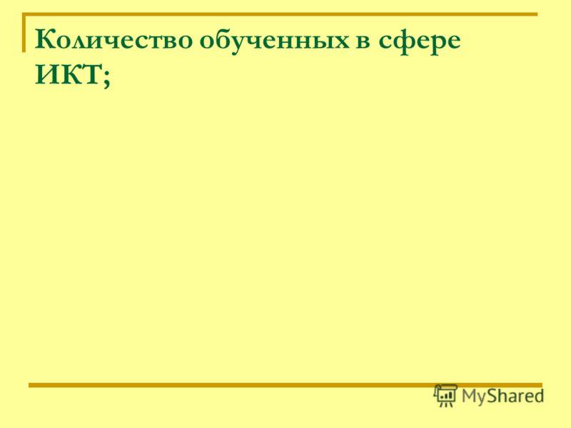 Количество обученных в сфере ИКТ;