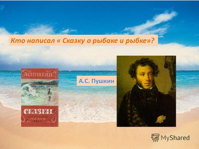 Кто написал « Сказку о рыбаке и рыбке»? А.С. Пушкин