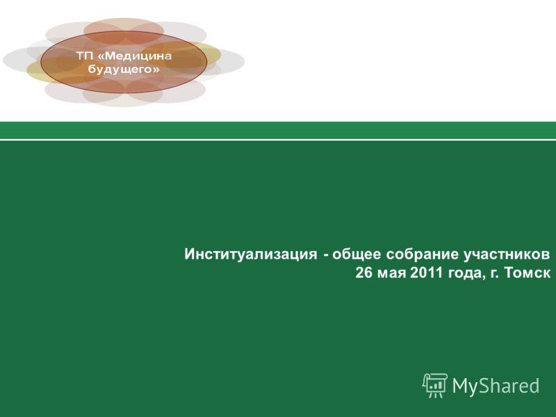 Институализация - общее собрание участников 26 мая 2011 года, г. Томск