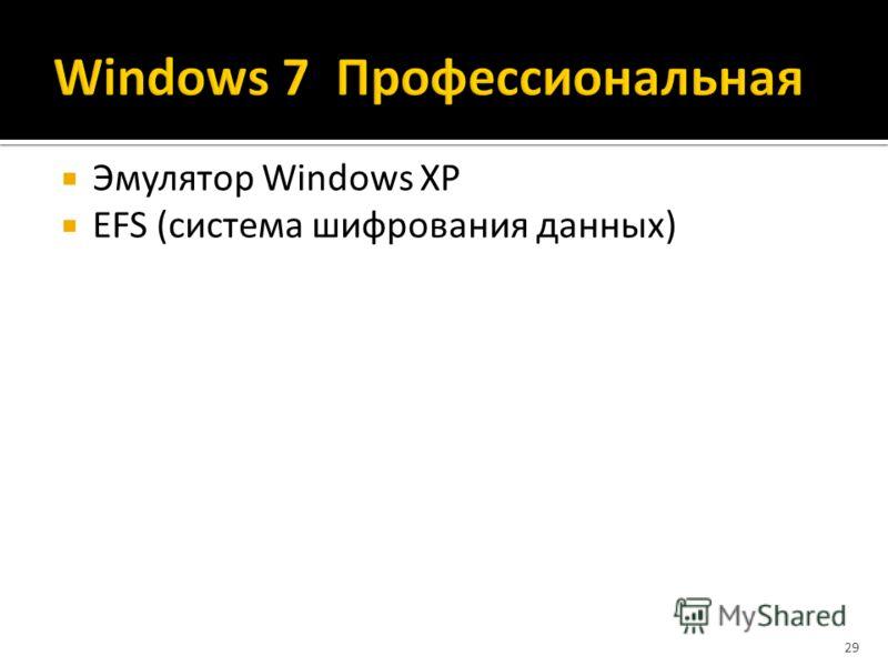 Эмулятор Windows XP EFS (система шифрования данных) 29
