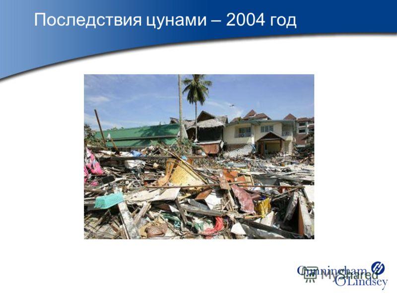Последствия цунами – 2004 год