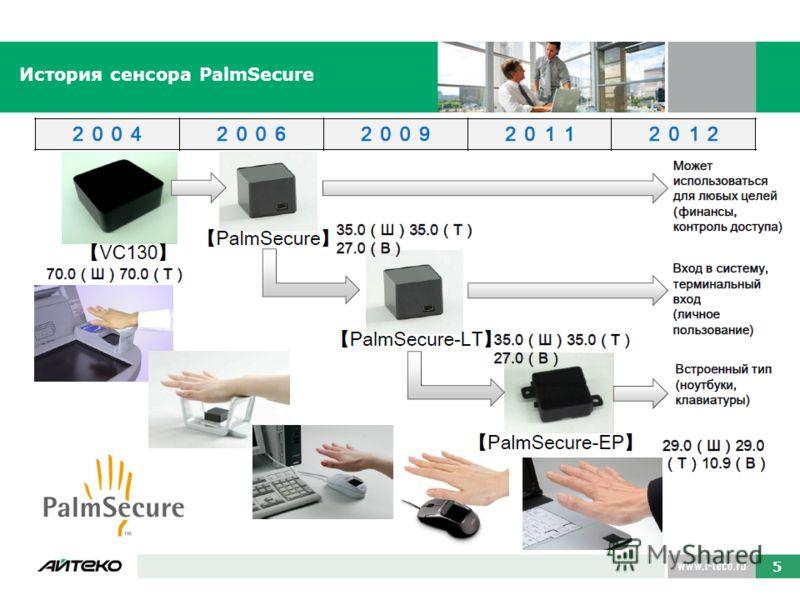 История сенсора PalmSecure 5 5 5