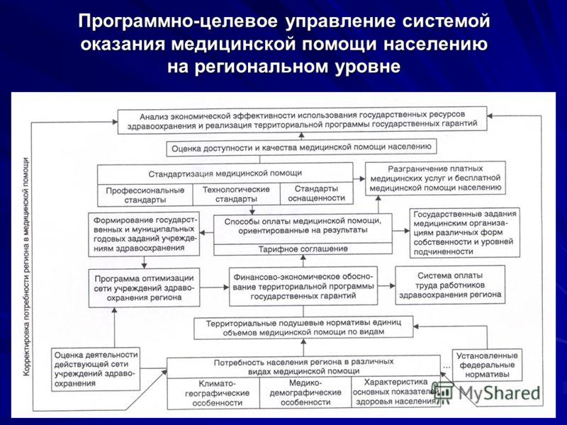 29 Программно-целевое управление системой оказания медицинской помощи населению на региональном уровне