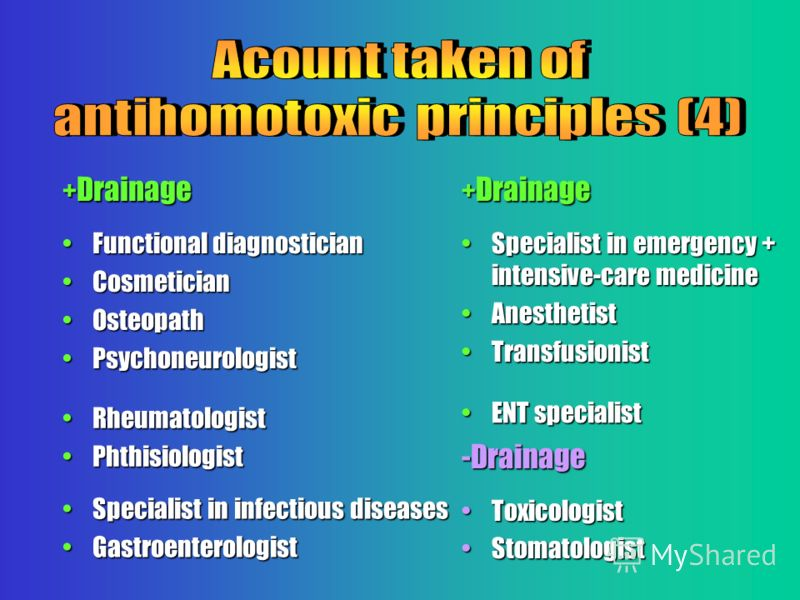 + Drainage Functional diagnosticianFunctional diagnostician CosmeticianCosmetician OsteopathOsteopath PsychoneurologistPsychoneurologist RheumatologistRheumatologist PhthisiologistPhthisiologist Specialist in infectious diseasesSpecialist in infectio