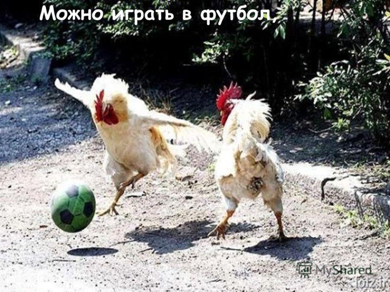 Можно играть в футбол,