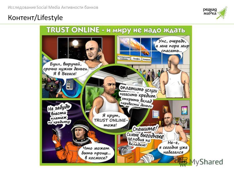 Исследование Social Media Активности банков Контент/Lifestyle