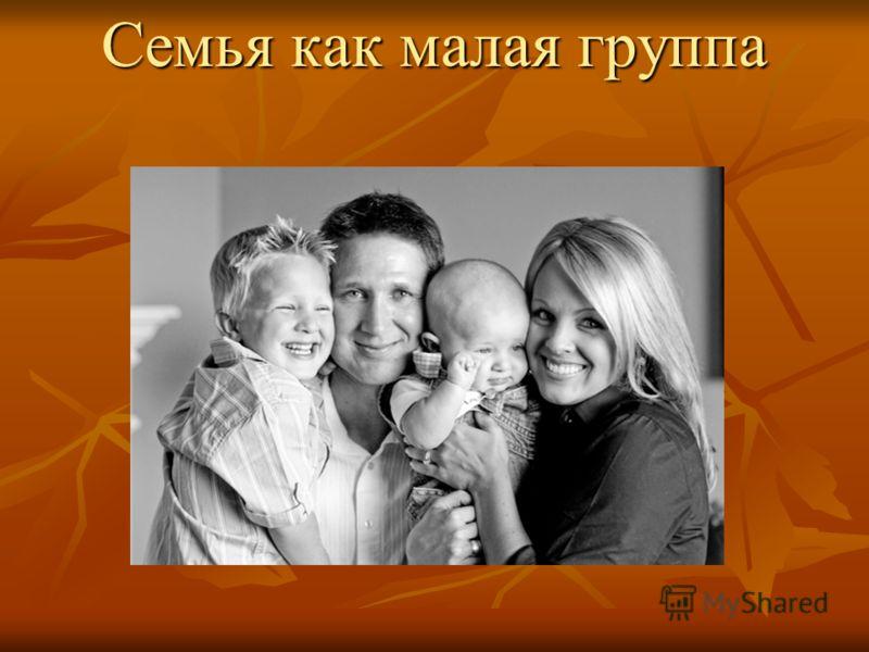 Семья как малая группа