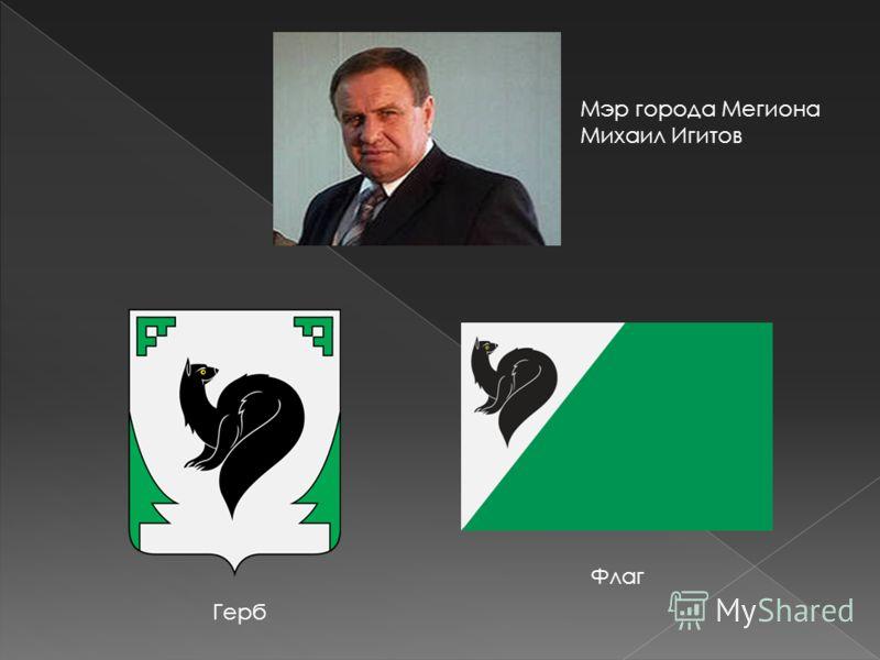 Мэр города Мегиона Михаил Игитов Флаг Герб