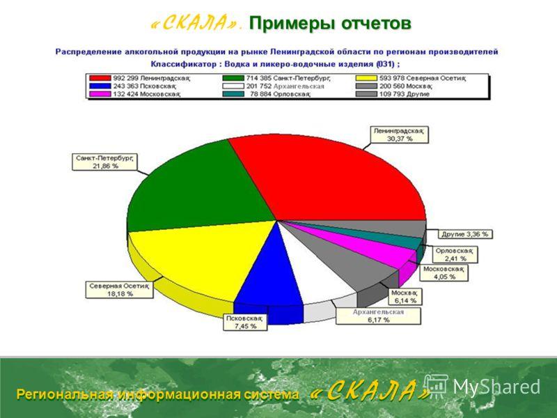 Примеры отчетов «СКАЛА». Примеры отчетов Региональная информационная система «СКАЛА»