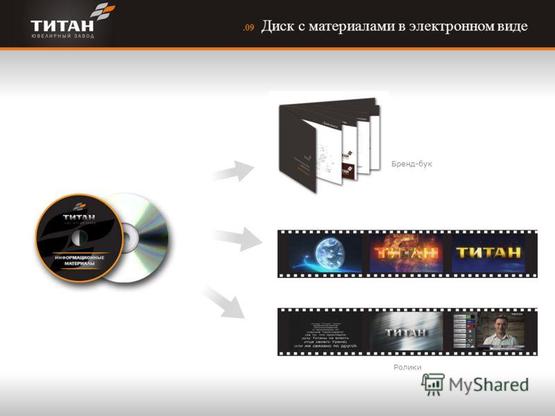 .09 Диск с материалами в электронном виде Ролики Бренд-бук