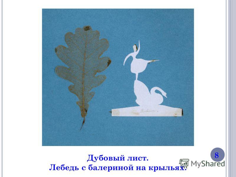 Дубовый лист. Лебедь с балериной на крыльях. 8