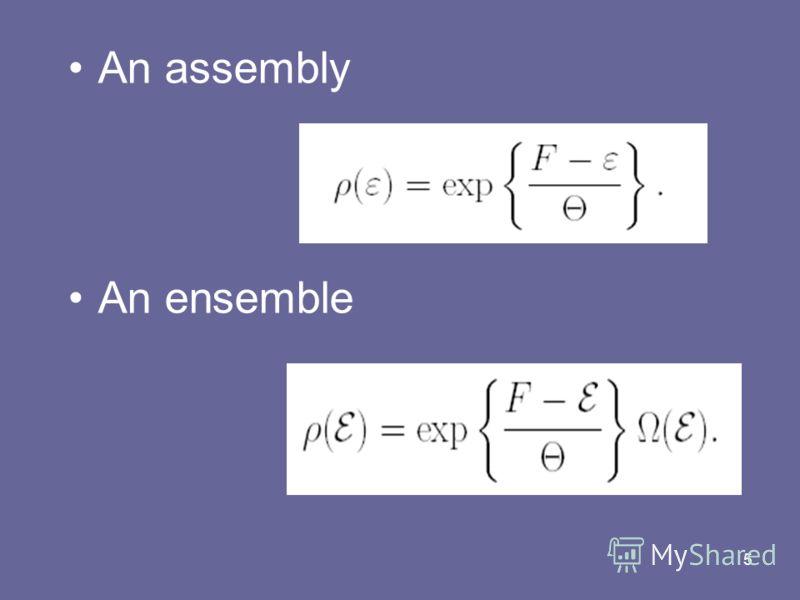 5 An assembly An ensemble