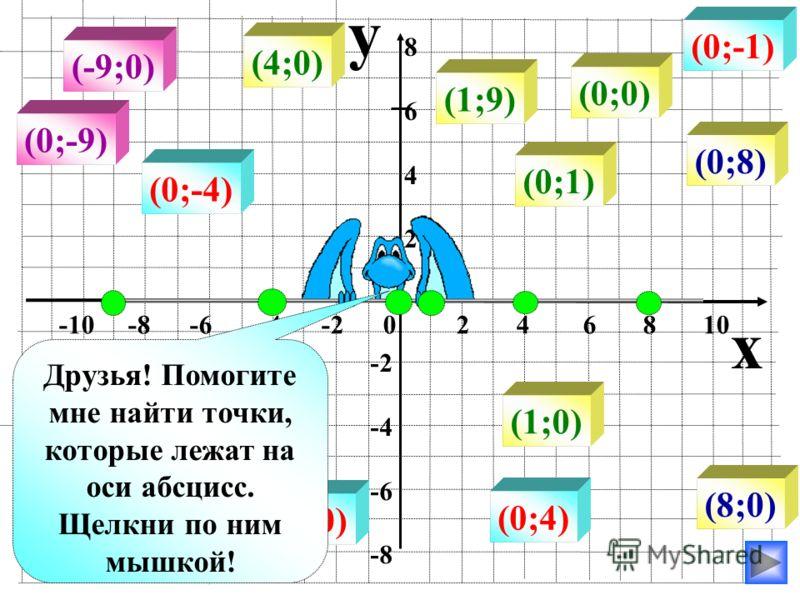 (-8;-8) (-7;-8) (2;-8) (4;-8) (8;-8) (-3;4) (2;4) (5;4) (6;4) (10;4) y x -10 -8 -6 -4 -2 0 2 4 6 8 10 86428642 -2 -4 -6 -8