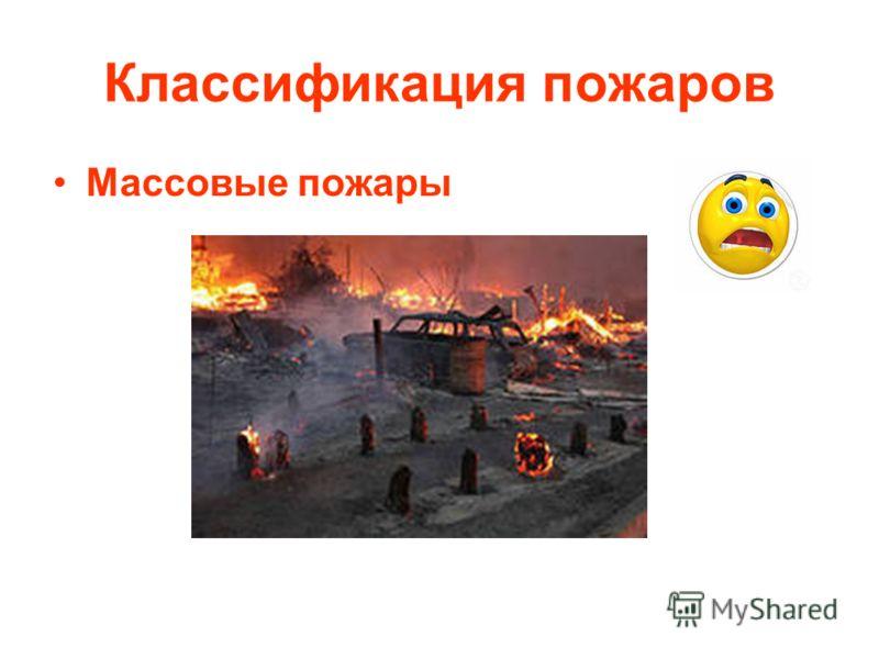 Классификация пожаров Массовые пожары