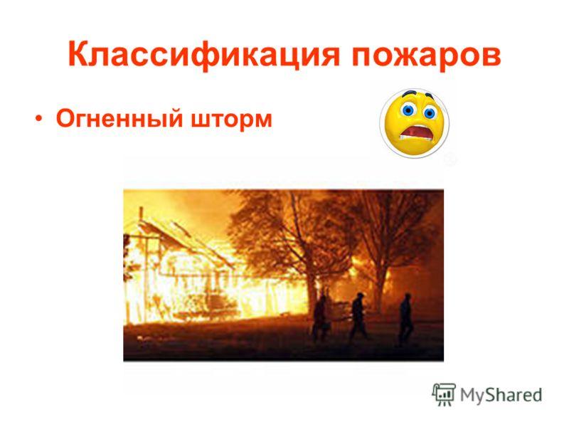 Классификация пожаров Огненный шторм