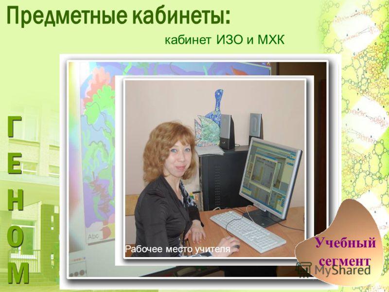 кабинет ИЗО и МХК Рабочее место учителя Учебный сегмент