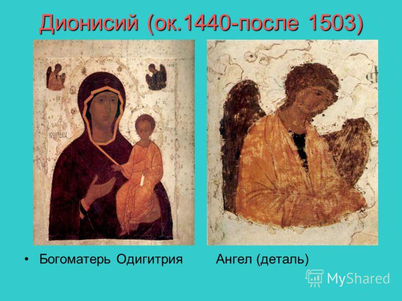 Дионисий (ок.1440-после 1503) Богоматерь Одигитрия Ангел (деталь)