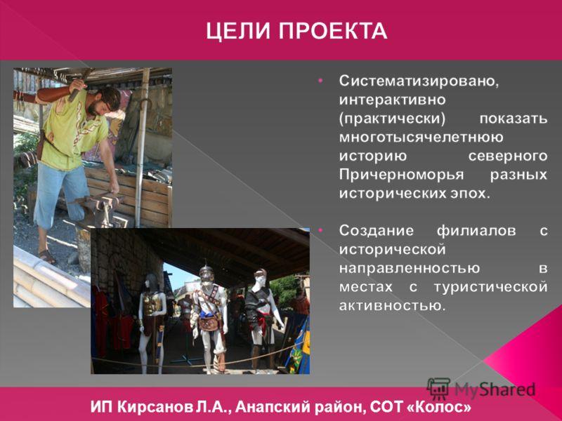 ИП Кирсанов Л.А., Анапский район, СОТ «Колос»