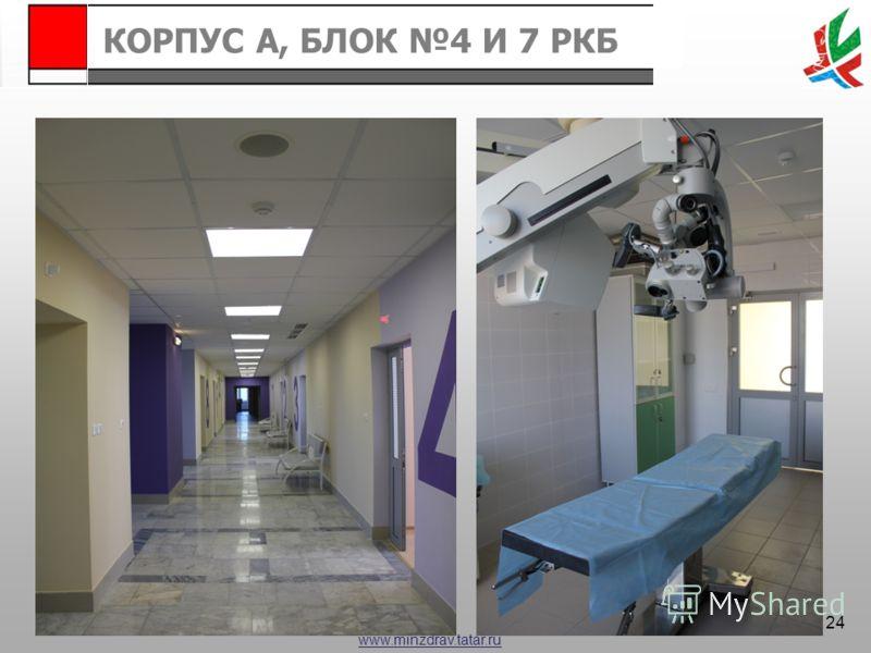 www.minzdrav.tatar.ru КОРПУС А, БЛОК 4 И 7 РКБ 24