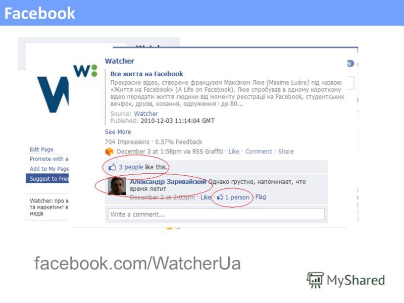 Facebook facebook.com/WatcherUa