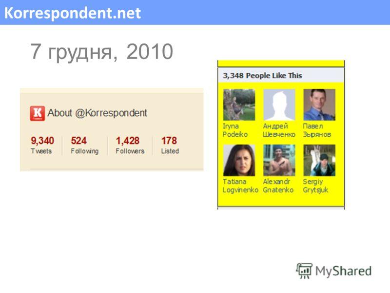 Korrespondent.net 7 грудня, 2010