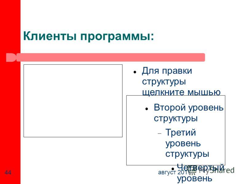Для правки структуры щелкните мышью Второй уровень структуры Третий уровень структуры Четвертый уровень структуры Пятый уровень структур ы Шестой уровень структур ы Седьмо й уровень структур ы Восьмо й уровень структур ы Девятый уровень структурыОбра
