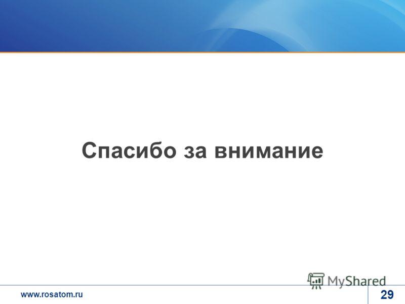 www.rosatom.ru 29 Спасибо за внимание