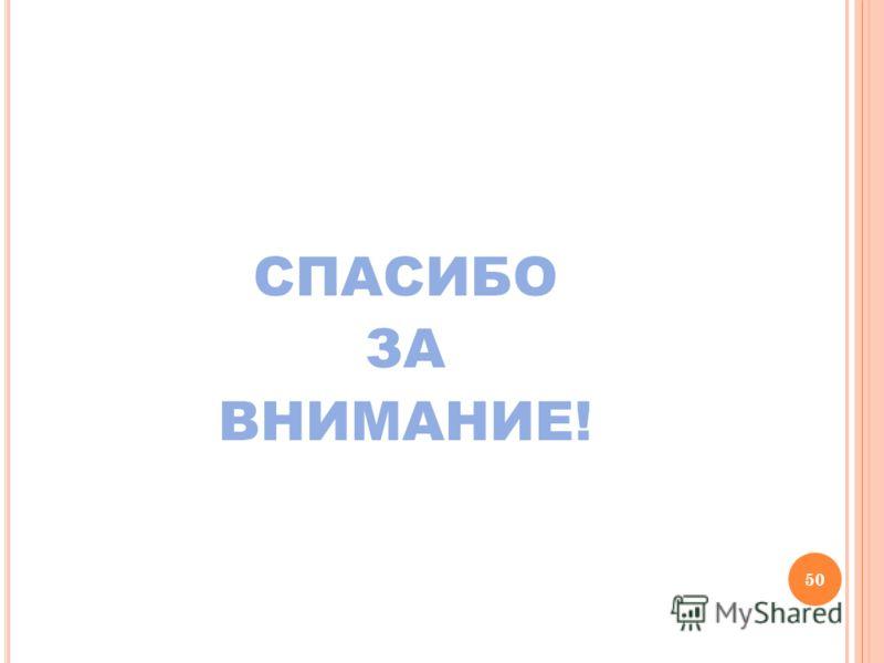 СПАСИБО ЗА ВНИМАНИЕ! 50
