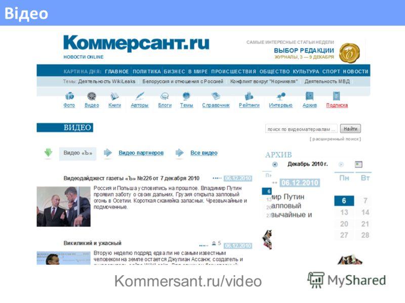 Відео Kommersant.ru/video