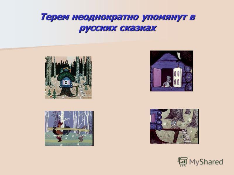 Терем неоднократно упомянут в русских сказках