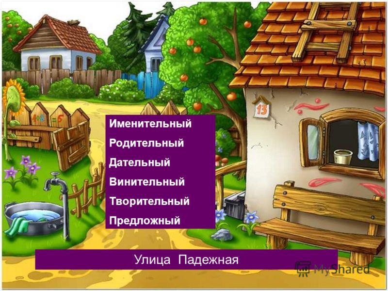 Улица Падежная Именительный Родительный Дательный Винительный Творительный Предложный