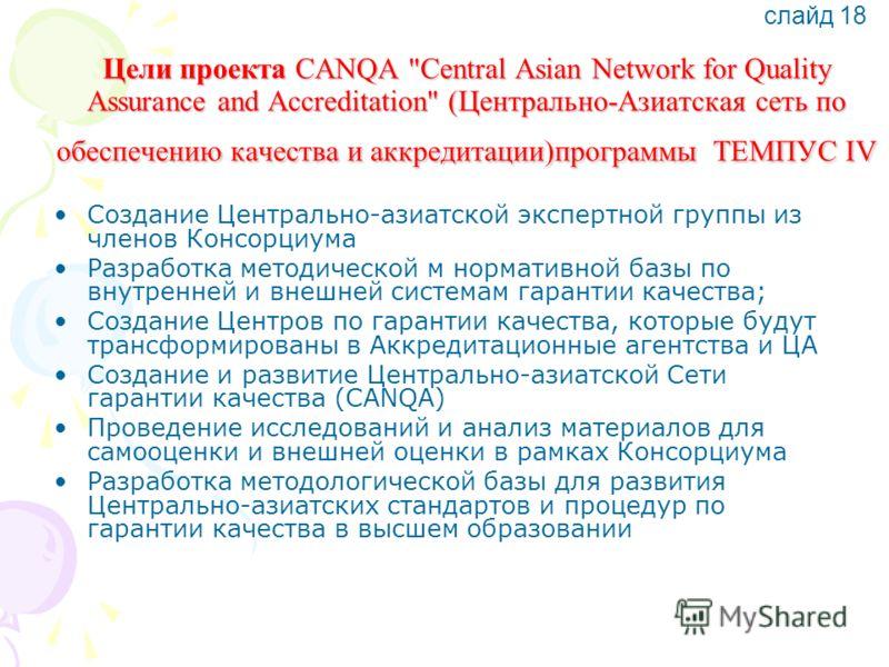 Цели проекта CANQA