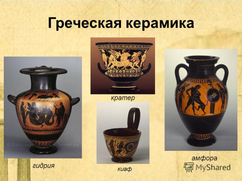 Греческая керамика амфора кратер гидрия киаф