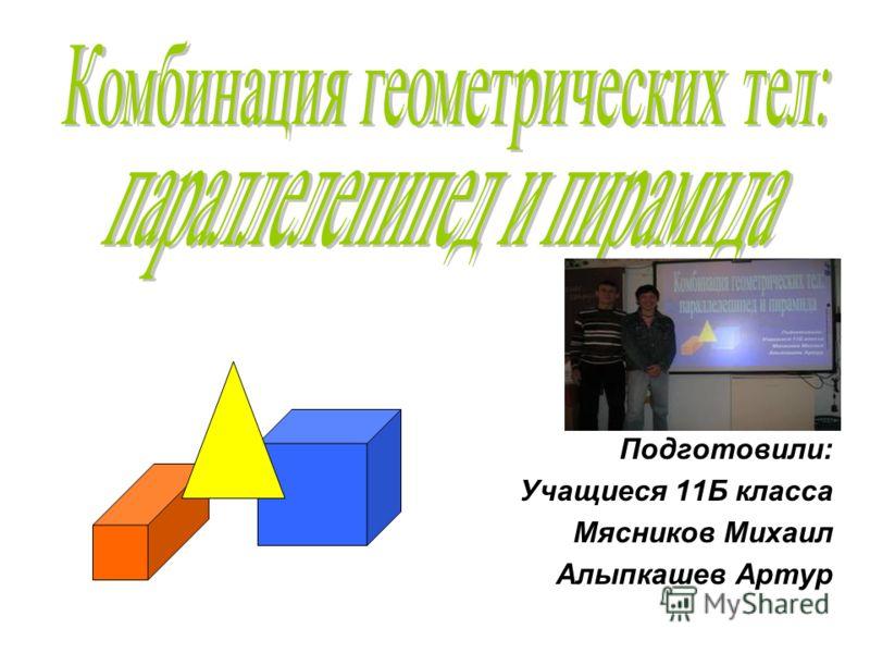 Подготовили: Учащиеся 11Б класса Мясников Михаил Алыпкашев Артур