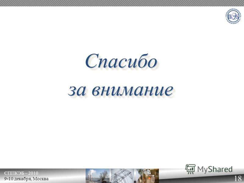 СППКЭБ – 2010 9-10 декабря, Москва 18 СпасибоСпасибо за внимание