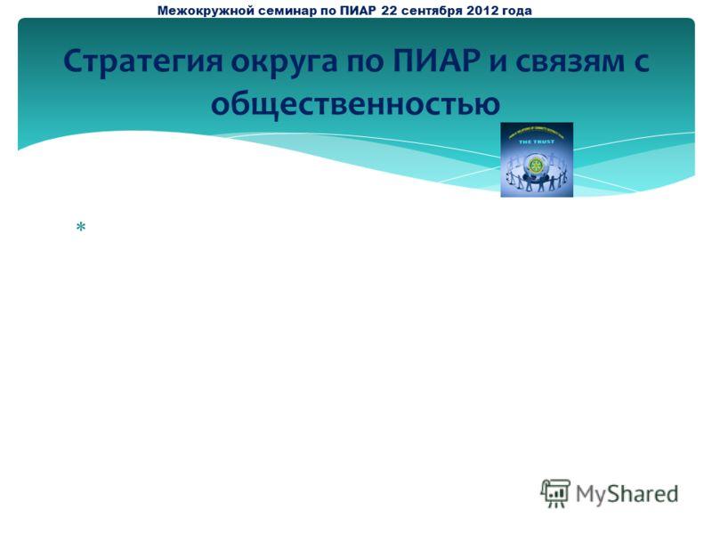 ЕЕееееееееееееееееееееееееееееееееееееееЕ Стратегия округа по ПИАР и связям с общественностью Межокружной семинар по ПИАР 22 сентября 2012 года