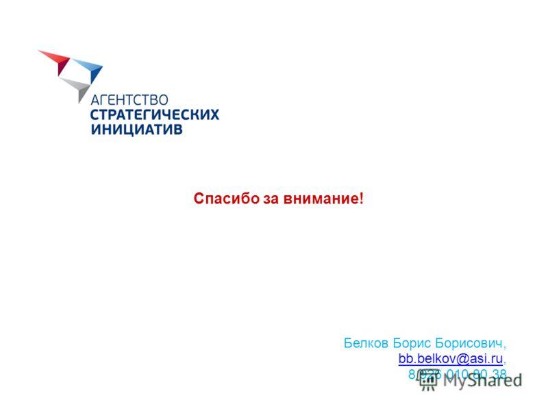 Спасибо за внимание! Белков Борис Борисович, bb.belkov@asi.rubb.belkov@asi.ru, 8 926 010 80 38