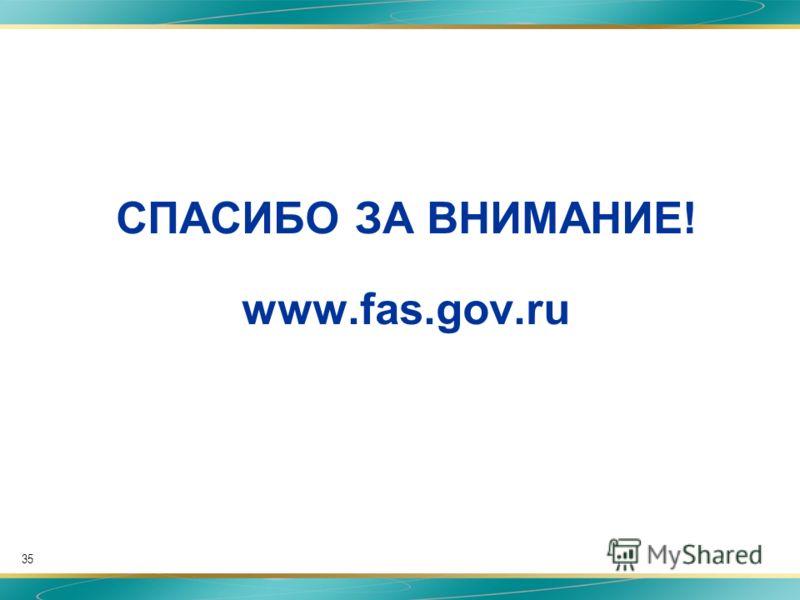 35 СПАСИБО ЗА ВНИМАНИЕ! www.fas.gov.ru